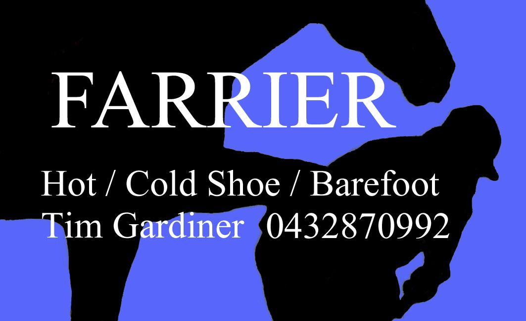 Farrier Tim Gardiner
